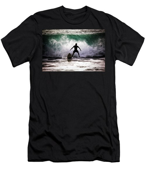 Men's T-Shirt (Slim Fit) featuring the photograph Standby Surfer by Jim Albritton
