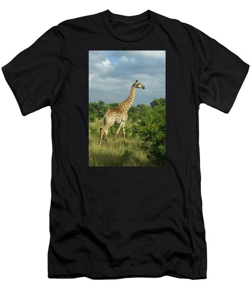 Standing Alone - Giraffe Men's T-Shirt (Athletic Fit)