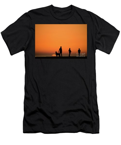 Standing At Sunset Men's T-Shirt (Athletic Fit)