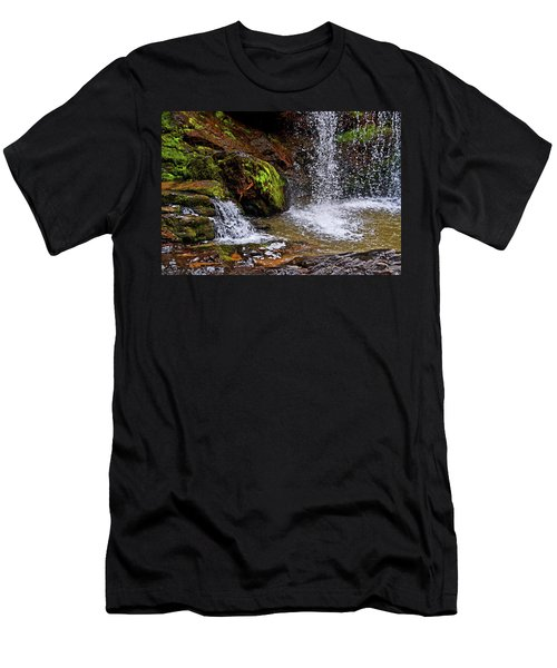 Standing In Motion - Brasstown Falls 011 Men's T-Shirt (Slim Fit) by George Bostian