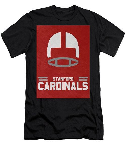 Stanford Cardinals Vintage Football Art Men's T-Shirt (Athletic Fit)