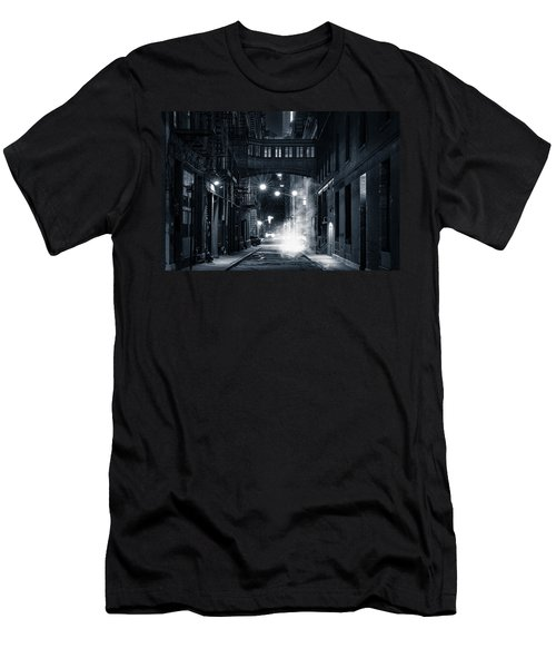 Staple Street Skybridge By Night Men's T-Shirt (Athletic Fit)