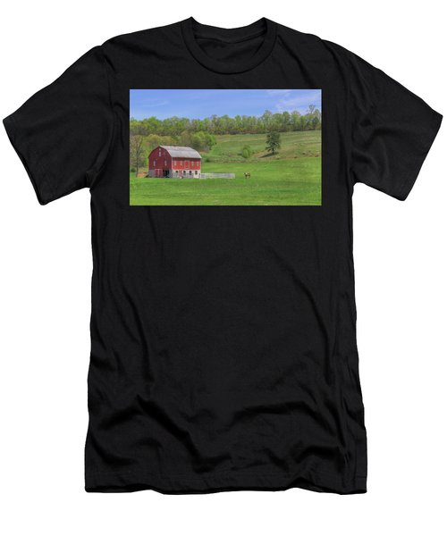 Star And Moon Barn Men's T-Shirt (Athletic Fit)