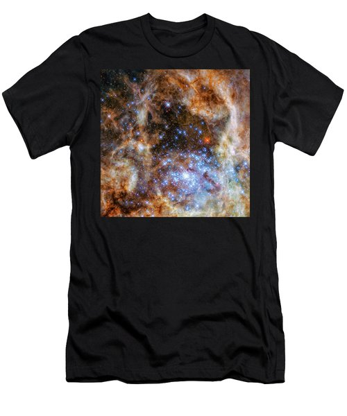 Men's T-Shirt (Slim Fit) featuring the photograph Star Cluster R136 by Marco Oliveira