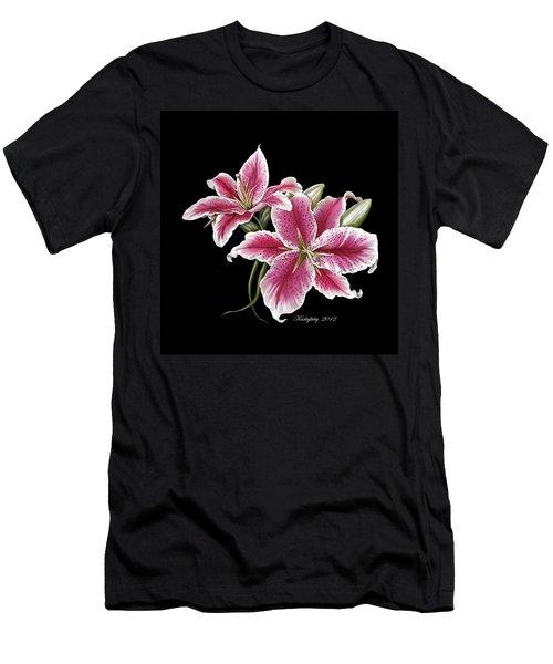 Star Gazer Lillies Men's T-Shirt (Athletic Fit)