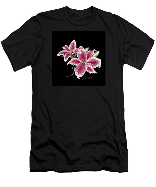 Star Gazer Lillies Men's T-Shirt (Athletic Fit)