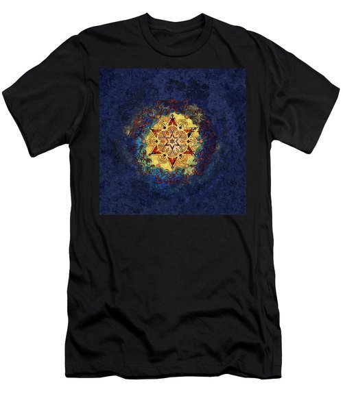 Star Shine Blue And Gold Men's T-Shirt (Athletic Fit)