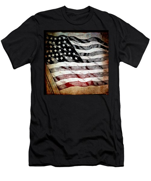 Star Spangled Banner Men's T-Shirt (Slim Fit) by Angelina Vick
