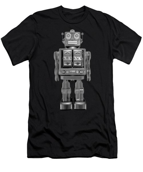 Star Strider Robot Red Bw Men's T-Shirt (Athletic Fit)