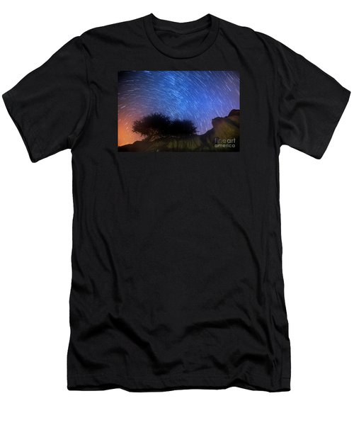 Star Trails Above Shell Beach Men's T-Shirt (Athletic Fit)