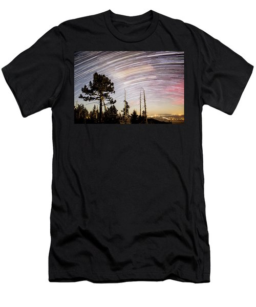 Star Trails At Fort Grant Men's T-Shirt (Athletic Fit)
