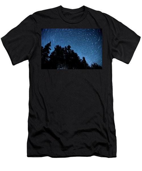Star Trails In Acadia Men's T-Shirt (Athletic Fit)