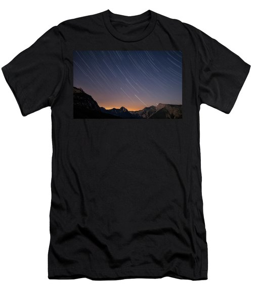 Star Trails Over The Apuan Alps Men's T-Shirt (Athletic Fit)