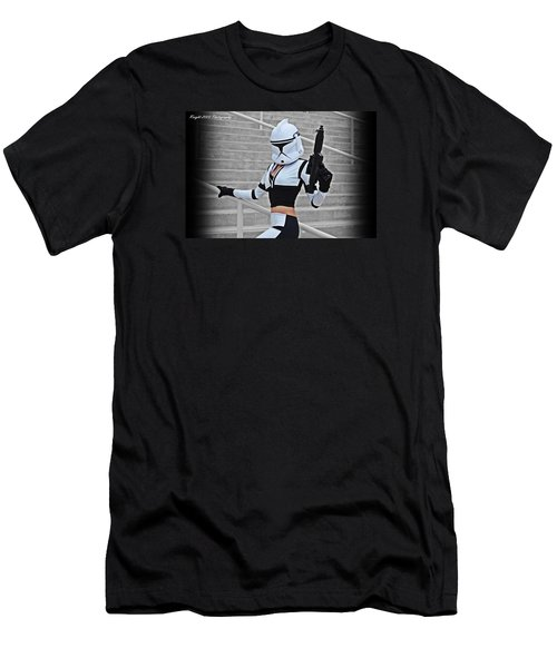 Star Wars By Knight 2000 Photography - Hello Guns Men's T-Shirt (Athletic Fit)