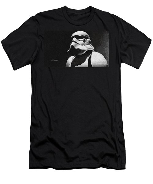 Men's T-Shirt (Slim Fit) featuring the painting Star Wars Stormtrooper by Elizabeth Coats