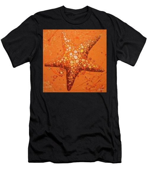 Starfish In Coral Men's T-Shirt (Athletic Fit)