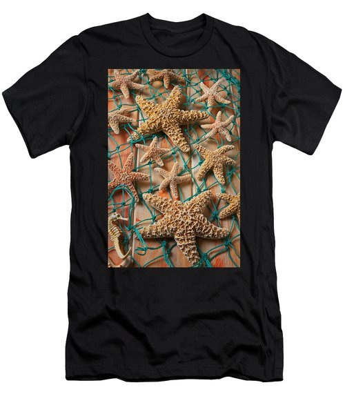 Starfish In Net Men's T-Shirt (Athletic Fit)