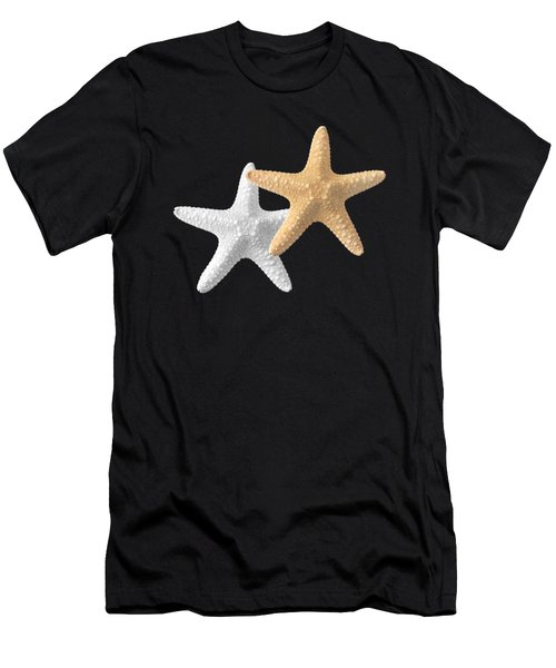 Starfish On Turquoise Men's T-Shirt (Athletic Fit)