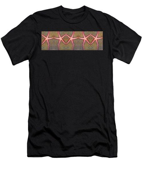 Starfish Pattern Bar Men's T-Shirt (Athletic Fit)