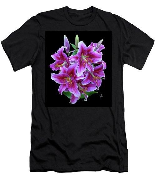 Stargazer Lily Cutout Men's T-Shirt (Athletic Fit)