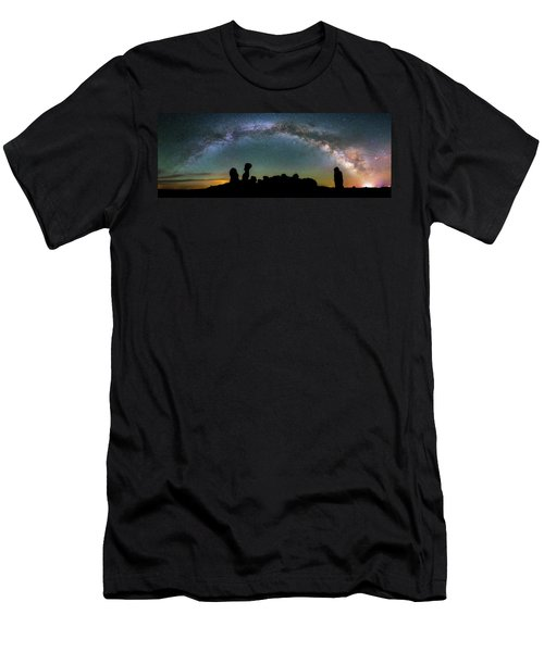 Men's T-Shirt (Athletic Fit) featuring the photograph Stargazing Family by Darren White
