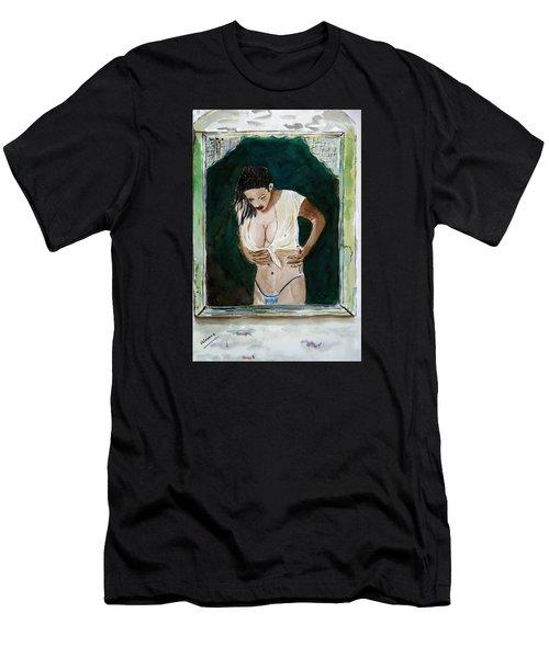 Staring At/// Men's T-Shirt (Slim Fit) by Shlomo Zangilevitch