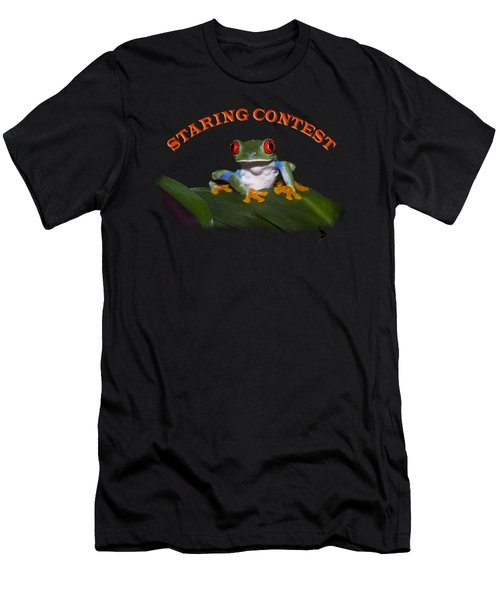 Staring Contest Men's T-Shirt (Athletic Fit)