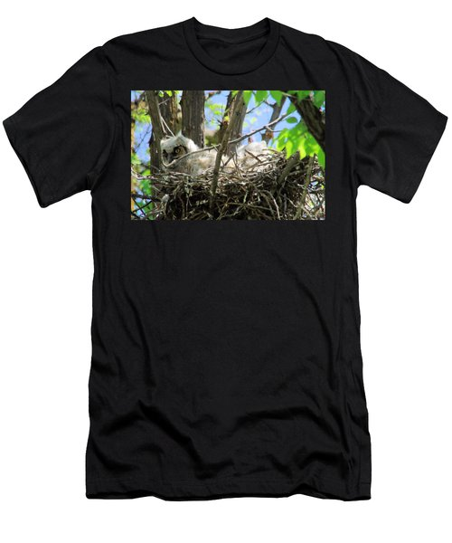 Staring From Its Nest Men's T-Shirt (Athletic Fit)