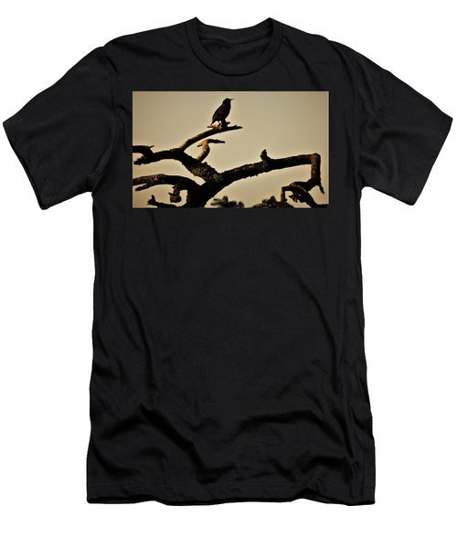 Men's T-Shirt (Slim Fit) featuring the photograph Starling by Karen Horn