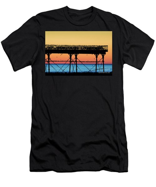 Starlings At Sunset In Aberystwyth Men's T-Shirt (Athletic Fit)
