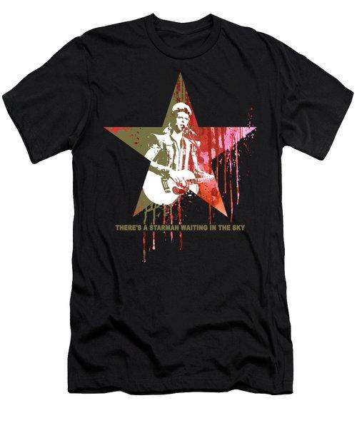 David Bowie - Starman #black Men's T-Shirt (Athletic Fit)