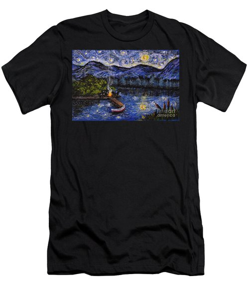 Starry Lake Men's T-Shirt (Athletic Fit)