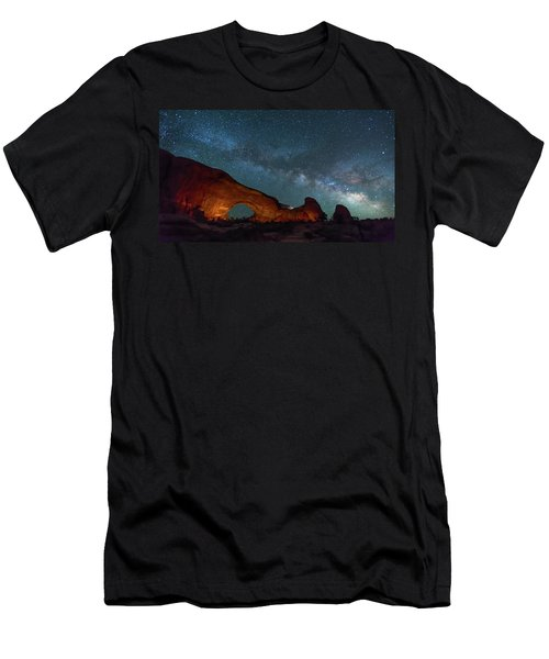 Starry Night At North Window Rock Men's T-Shirt (Athletic Fit)