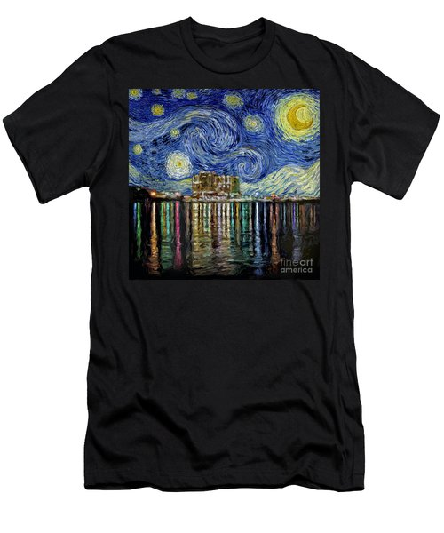 Starry Night In Destin Men's T-Shirt (Athletic Fit)