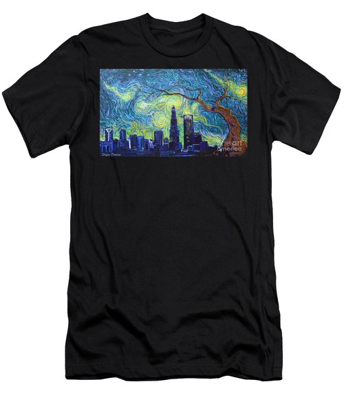 Starry Night Over The Queen City Men's T-Shirt (Athletic Fit)