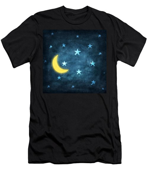 Stars And Moon Drawing With Chalk Men's T-Shirt (Athletic Fit)
