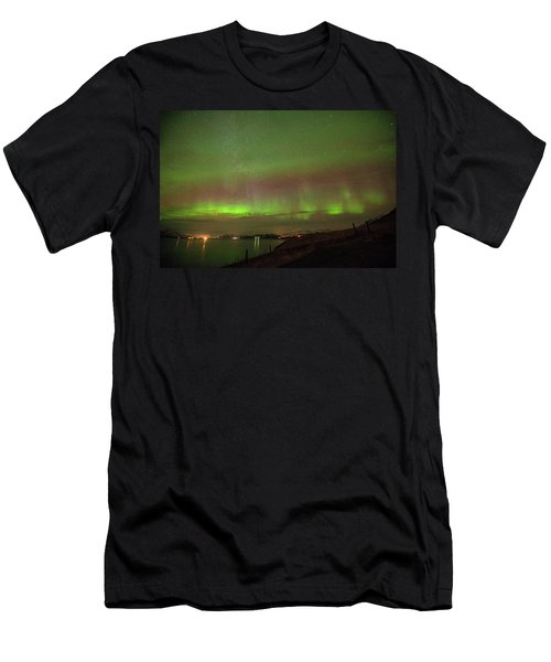 Stars And Northern Lights Men's T-Shirt (Athletic Fit)