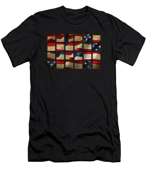 Stars And Stripes And Squares Men's T-Shirt (Athletic Fit)