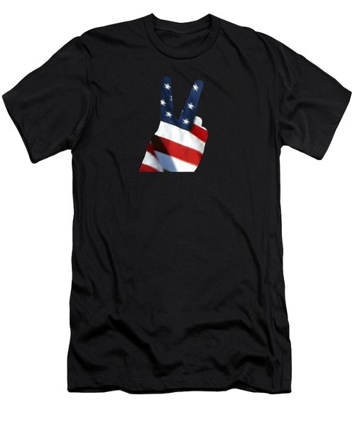 Stars And Stripes Peace Sign .png Men's T-Shirt (Athletic Fit)
