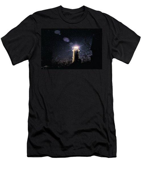 Stars Over Nobska Lighthouse Men's T-Shirt (Athletic Fit)