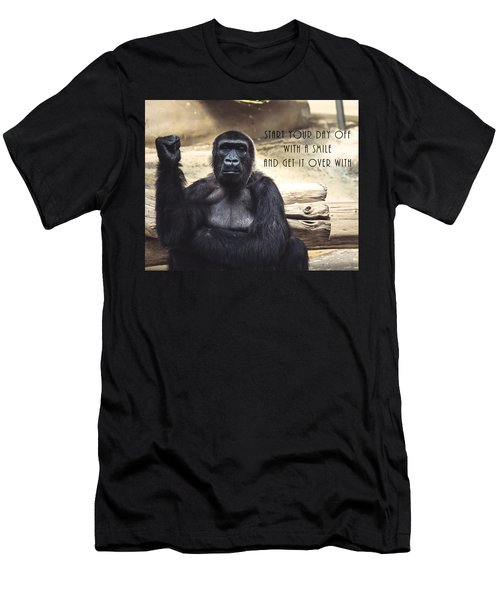 Men's T-Shirt (Athletic Fit) featuring the digital art Start Your Day Off With A Smile by Anthony Murphy