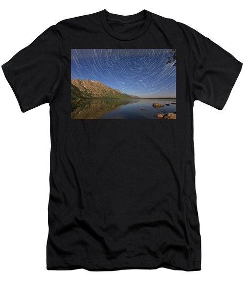 Startrails Over Jenny Lake Men's T-Shirt (Athletic Fit)