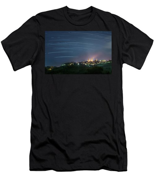 Startrails Over San Gimignano Men's T-Shirt (Athletic Fit)