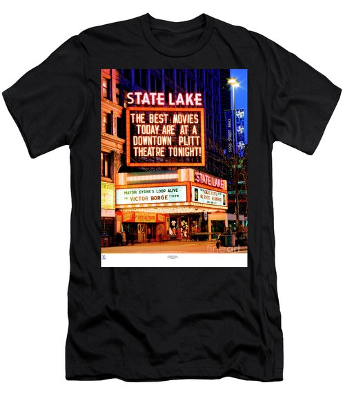 State-lake Theater Men's T-Shirt (Athletic Fit)