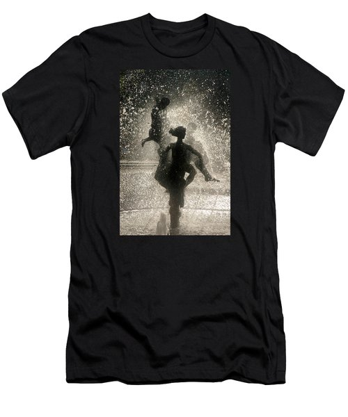 Statue In Rostock, Germany Men's T-Shirt (Slim Fit)