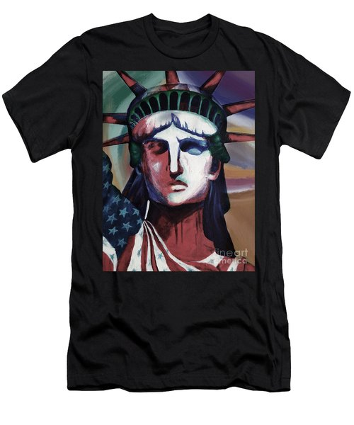 Statue Of Liberty Hb5t Men's T-Shirt (Slim Fit) by Gull G
