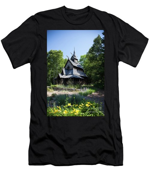 Stavkirke Church Men's T-Shirt (Athletic Fit)