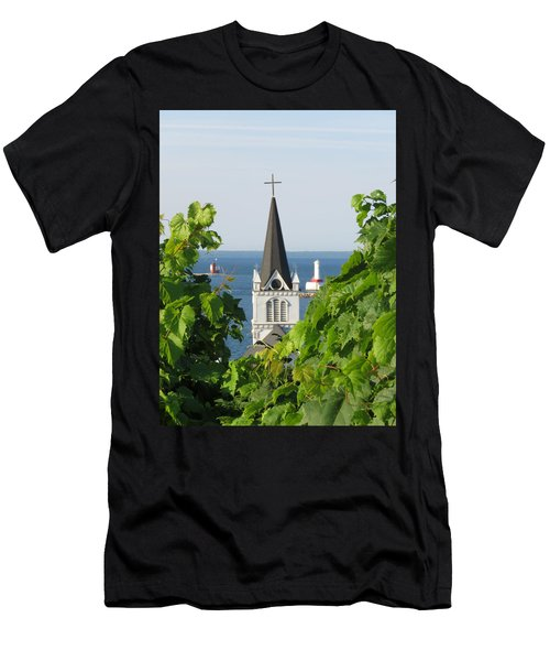Ste. Anne's Steeple Men's T-Shirt (Athletic Fit)
