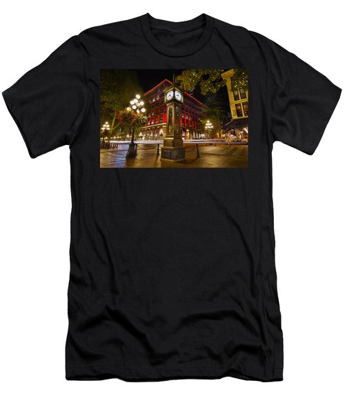 Steam Clock In Historic Gastown Vancouver Bc Men's T-Shirt (Athletic Fit)