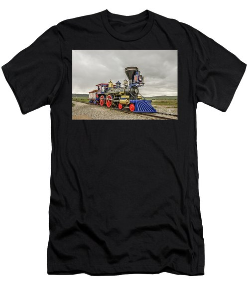 Men's T-Shirt (Athletic Fit) featuring the photograph Steam Locomotive Jupiter by Sue Smith